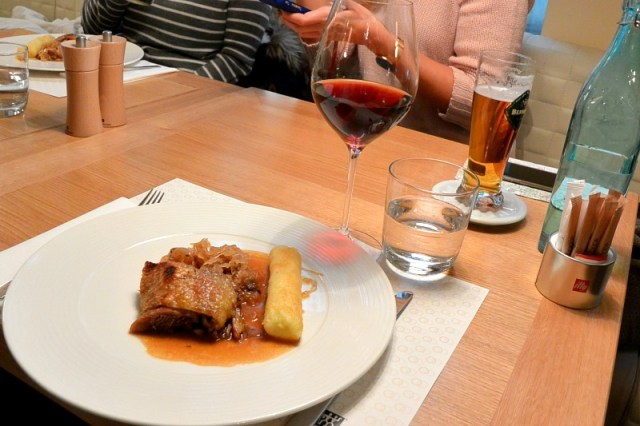 Duck with potato dumpling on Christmas food tour in Prague