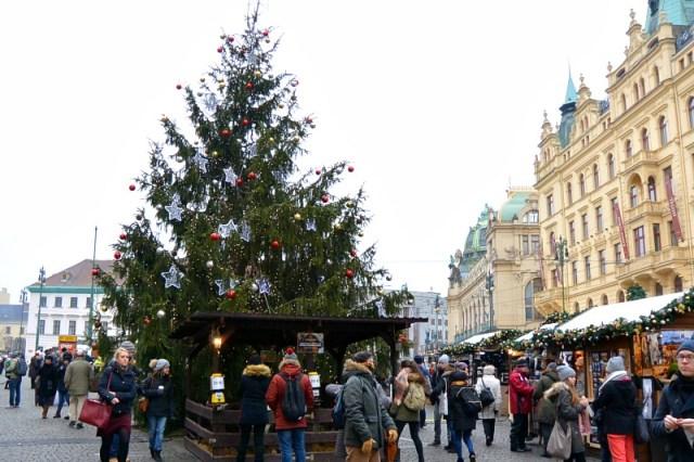 Wenceslas Square on Christmas Day