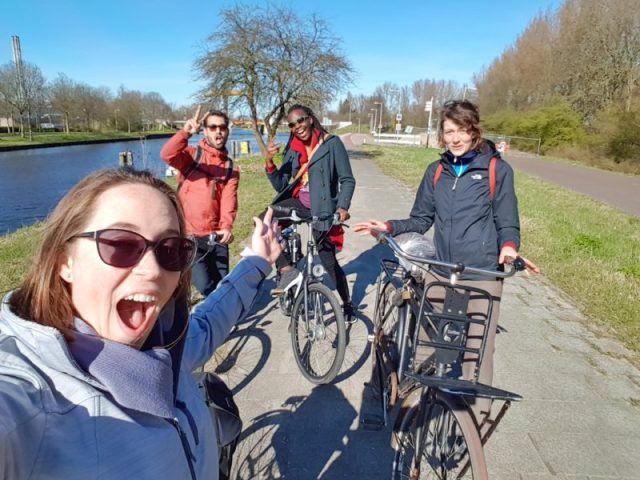 Funny group photo from the Amsterdam countryside tour