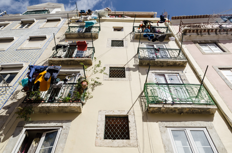 Looking up in Lisbon