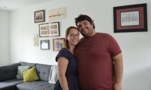 Sean and Jessica in their new house