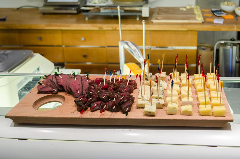 meats and cheese on a Reykjavik food tour