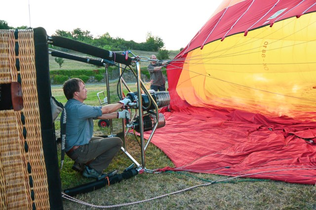 Brno hot air going in