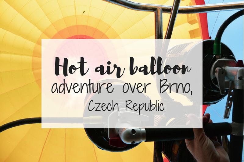 Hot air balloon ride in Brno