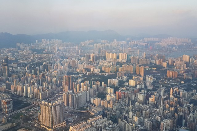 View from ozone from Kowloon