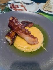 Grilled Octopus with Polenta -- Restaurante Ubarretxena, San Sebastian, Spain