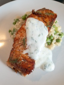 Salmon with Yogurt and Dill -- Oops, we made this at home, and it still ended up in our best bites! Amsterdam, Netherlands
