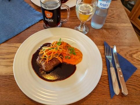 Beef steak -- Bukovansky Mlyn, Bukovany, Czech Republic
