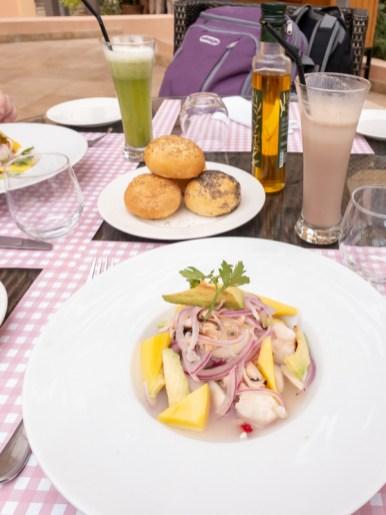 Ceviche -- Jamra Organic & Healthy Living Restaraunt, Marrakech, Morocco