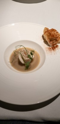 Grandma's Fish Maw Soup (yellow tail snapper fish cake, textures of fish maw & tofu puree) -- Labyrinth, Singapore