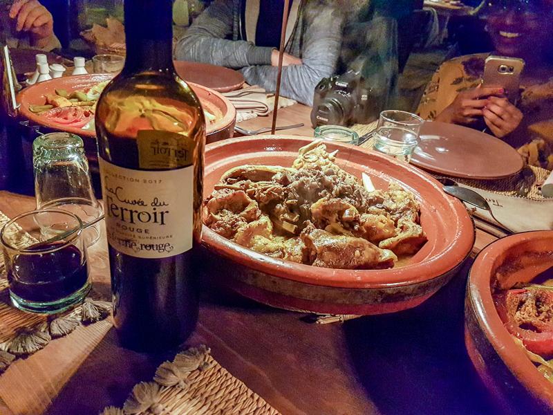 Dinner at Terre des Etoiles