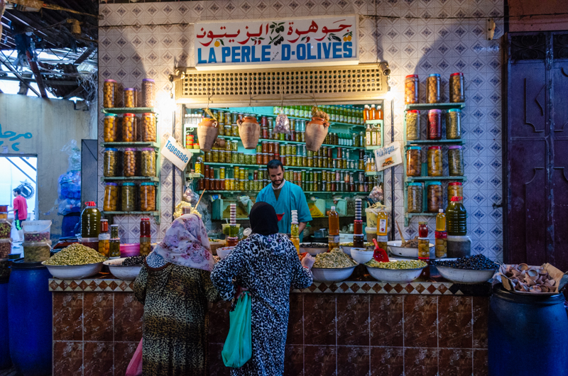 Inside a souk to start the food tour in marrakech