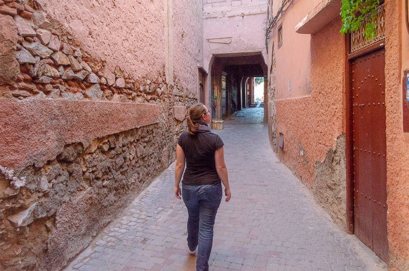 Walking the alleys of Marrakech