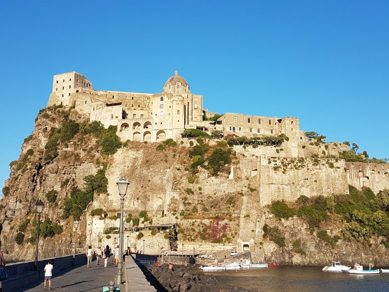 Aragonese Castle on Ischia Gulf of Naples