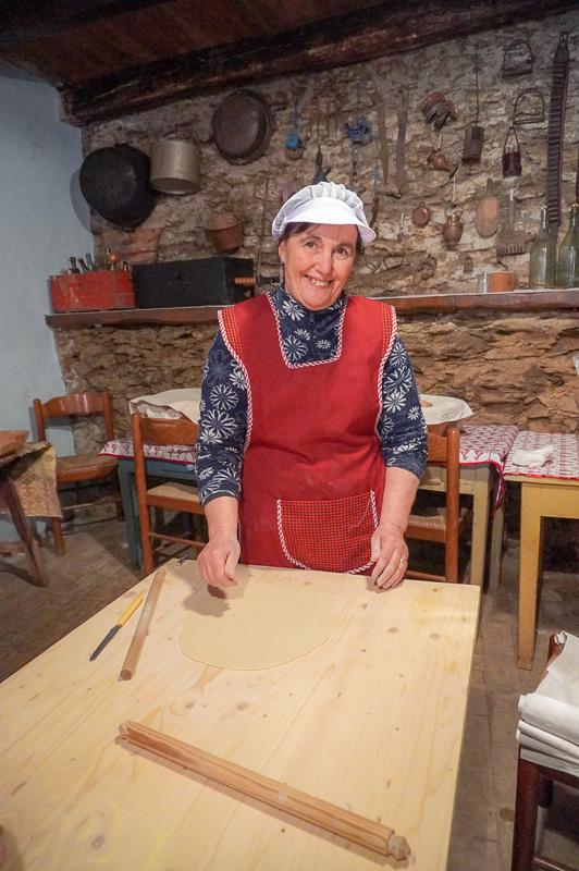 Victoria teaching pasta making