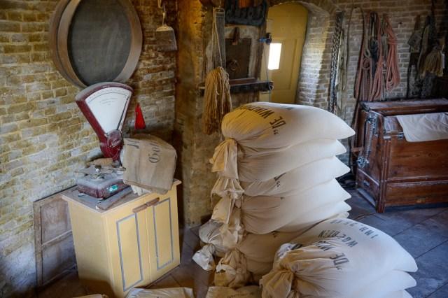 Inside the flour Windmill in Woerden
