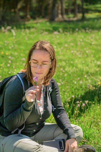 Jessica in Trentino field