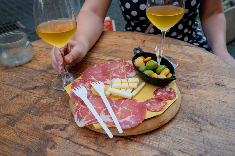 wine and bites at Antinga Cantina Sepe