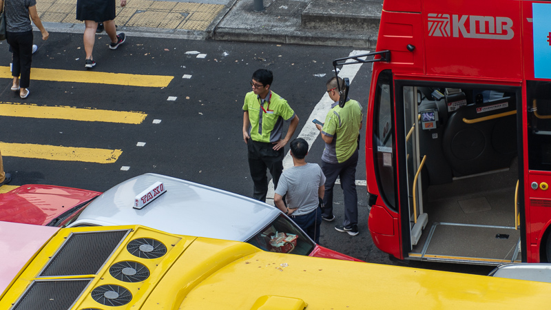 Hong kong drivers stuck due to protest
