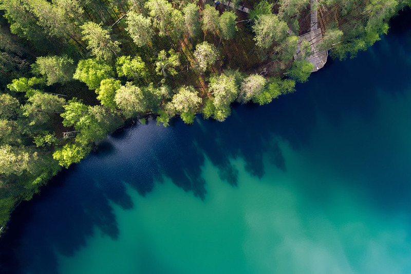 Lake in Lagale, Latvia