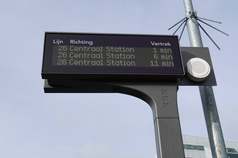 Arrival board Amsterdam public transportation