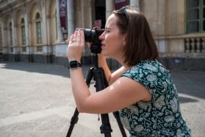 jessica looking through lens