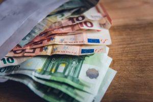 Euros in envelope