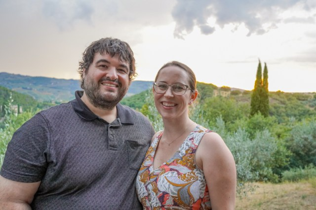 Sean and Jessica in Tuscany