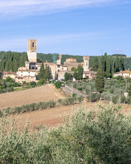 Tuscan hill top town
