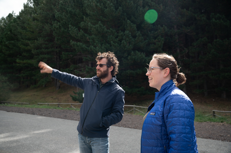 Jessica with Mt Etna Guide