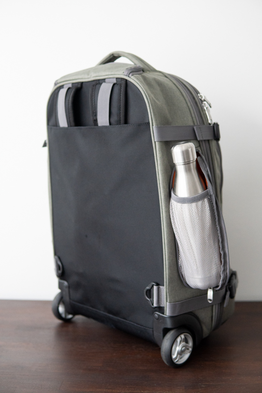 ebags rolling travel backpack with water bottle holder