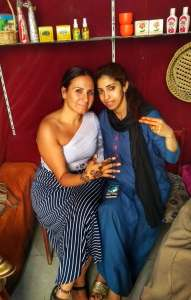 Me and Rita in her shop in Medina of Fez