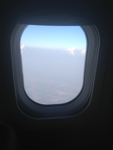 My view while in the air