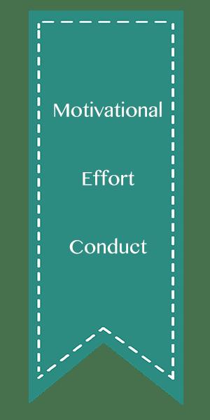 Motivational, Effort, Conduct