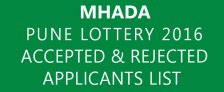 MHADA Pune Lottery 2016 Applications List