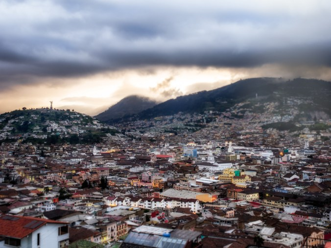 Old town of Quito.
