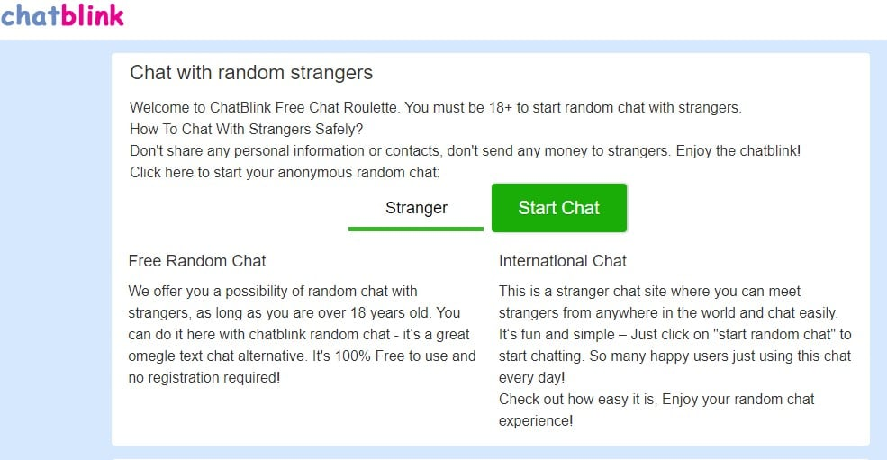 Site where you can chat with strangers