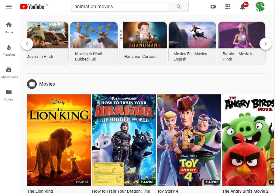 YouTube's free animation movies like Kissanime