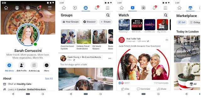 Facebook social media app