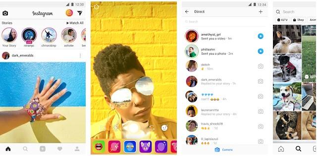 Instagram social media app
