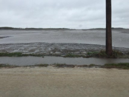 Acres of flooded farmland between Winnipeg & Portage la Prairie.