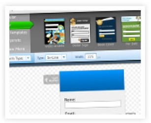 AWeber web forms to use as signup forms for subscribers