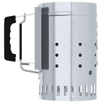 Char-Griller Charcoal Grill Chimney Starter with Quick Release Trigger