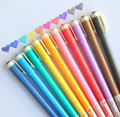 GANSSIA Colorful Design Series Erasable Gel Pens