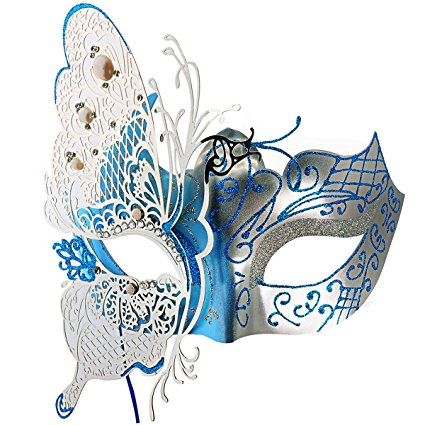 Coxeer Butterfly Masquerade Mask
