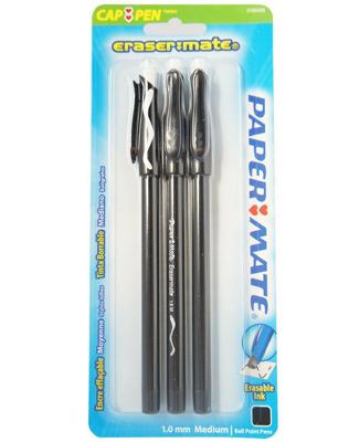 Paper Mate EraserMate Stick Ballpoint Pens