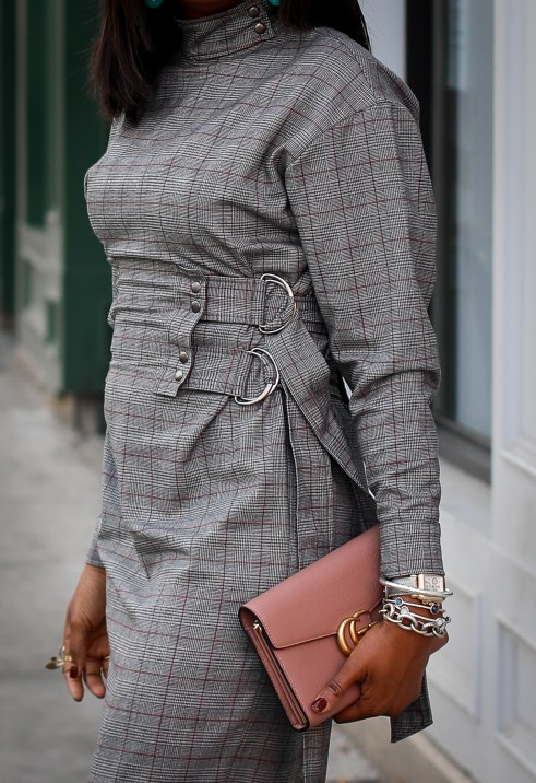 Long sleeve plaid dress. Fall fashion, Atlanta Blogger, Fashion trends, what to wear for fall-2