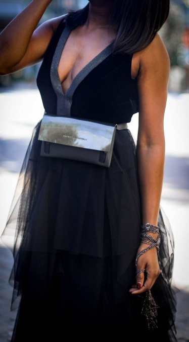 tulle brunello cucinelli dress for the holidays worn by Fashion blogger #combatboots #cucinelliboots-13