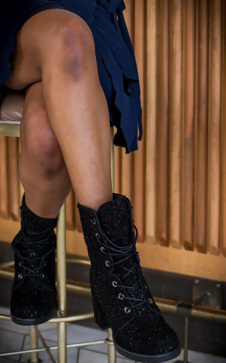Atlanta fashion blogger wearing Mon Amie watch for the holidays J.crew sweatshirt and stuart weitizman booties -19