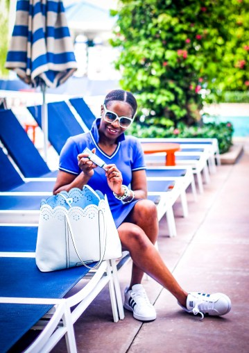 The best natural spf is Biossance. Atlanta blogger on vacation using spf-2